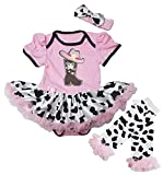 Petitebella Cowgirl Boot and Hat Pink Bodysuit Cow Baby Dress Leg Warmer Nb-18m (12-18 Months)