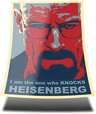 GREAT ART Red Blue Poster Breaking Bad I am The one who Knocks Heisenberg 85 x 60cm Wall Poster product image