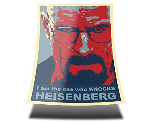 """Great Art Red Blue Poster - Breaking Bad """"Je suis celui qui frappe"""" Heisenberg - 85 x 60cm affiche murale rôle Walter White - acteur Bryan Cranston série TV murale"""