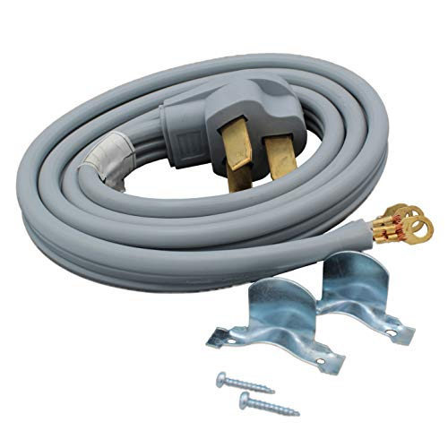 Supplying Demand 3 Wire Range Cord 40-AMP 250 Volts 10 AWG Wire Compatible With All Major Appliance Brands (5 Foot)