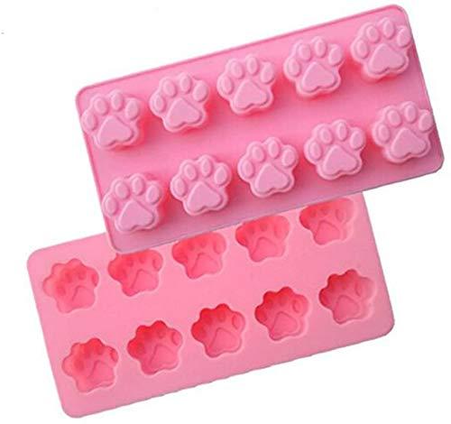 Hinleise Silikonform mit Katzenpfotenabdruck, für Fondant, Zucker, Kekse, Gelee, Eis, Basteln, Backform, Kuchendekoration, Küchenzubehör