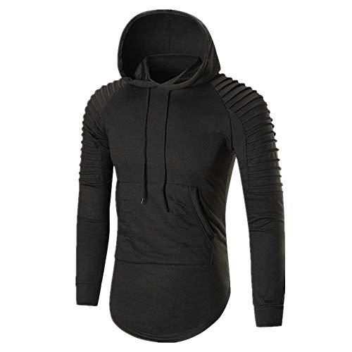 Suéter para hombre, ajuste delgado y casual color sólido con capucha