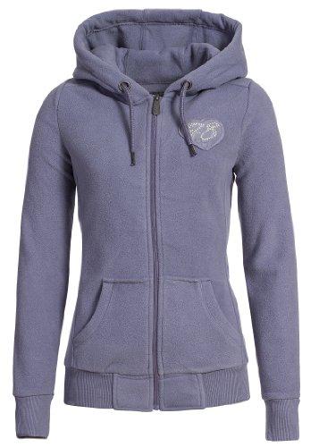 Sublevel Fleece Jacke mit Kapuze, Größe:XS;Farbe:Light Blue