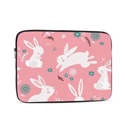 Laptop Sleeve Case 17 Inch Easter Pattern Design Bunnies Laptop Sleeve/Notebook Computer Pocket Case/Tablet Briefcase Carrying Bag