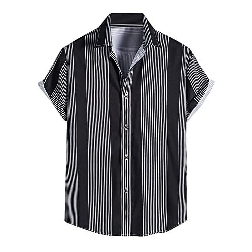 ZODOF Camisas Manga Corta Hombre Hawaiana Estampado Cuello de Solapa Camisa Hombres Casual Verano Tallas Grandes Tops Blusa Originales de Vestir Shirt Algodon 2021 Barata