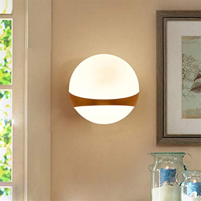 Jiahe Moderne Kunst Wandleuchte Nordic Runde Glas Ball Wandleuchte für Das Haus Hotel Korridor Dekorieren Wandleuchte Einfache Stil Wandleuchte Beleuchtung,A