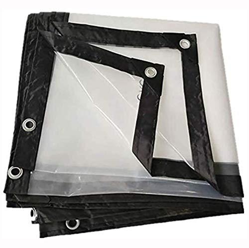 ZHANGYUQI Lona Impermeable Resistente, Cubierta De Lona Transparente con Ojales, Bordes Reforzados, Resistente, para Plantas De Exterior(Color:Claro,Size:2x3m)