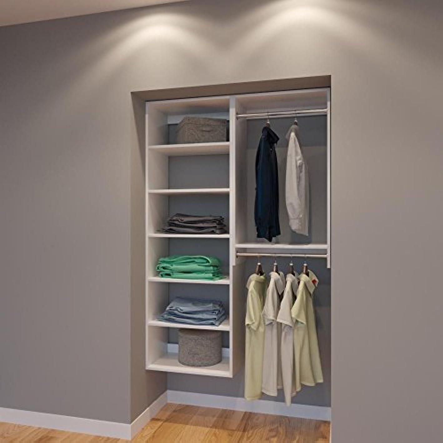 Modular Closets 4 Ft Plywood Closet Organizer System - 48 inch - Style F