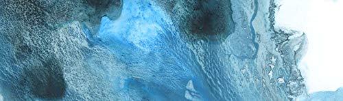 Cuadro Abstracto Azul Moderno decoración impresión Lienzo Horizontal Alargado Decorativo (60 x 20 cm)
