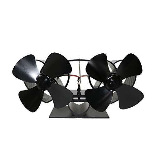 Hothap verwarmingsblazer met eigen haard stille 8 messen 2 monitoren aluminium efficiënt warme grote kachel milieuvriendelijk zwart