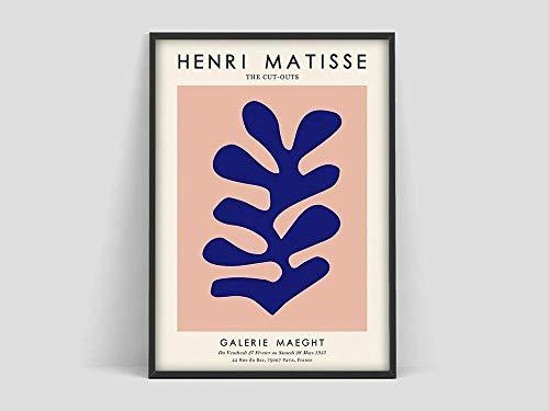 Henri Matisse Korallenplakat, Matisse Kunstdruck, Matisse die Ausschnitte, Matisse Plakat, Henri Matisse Blatt, Matisse Koralle, Familie rahmenlose dekorative Malerei A64 50x70cm