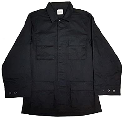 Military Outdoor Clothing Moc BDU Jacket Never Issued BDU Jackets Twill, Large/Long, Black
