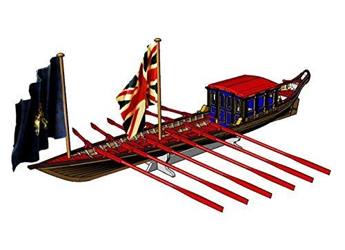 FGDSA Kits de construcción de Modelos de embarcaciones de Juguete, Kit de Barco Modelo de Barco, Modelo de la Marina Real Británica, barcaza HMS 1832 1/48, Kit de Montaje de Barco de Madera británico