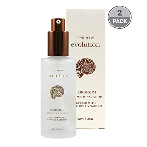 Herstyler Evolution Argan Oil Serum For Hair - Vitamin E Hair Serum To Soften Dry Hair - Nourishing Serum For Hair Straightening - Oil Hair Serum With Aloe Vera (2 Pack)