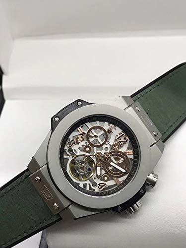 GFDSA Automatische horloges Luxe merk Heren Automatisch mechanisch Titanium Zwart Rose Goud Zwart Rubber Bruin Leer Saffier Tourbillon Horloges
