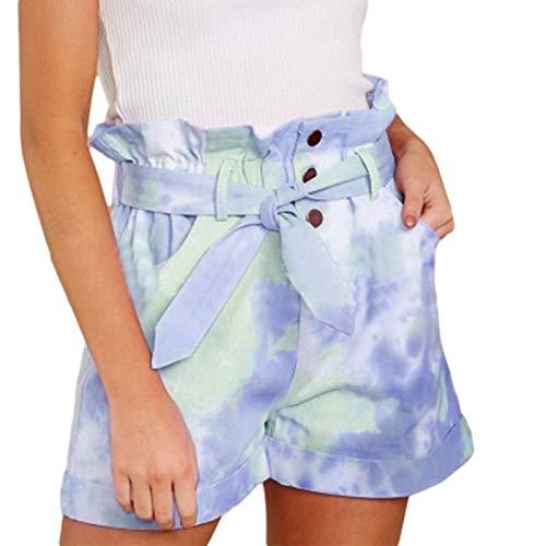 Pantalones Cortos para Mujer Verano Nueva Tendencia Impresión de Personalidad Pantalones Cortos Sueltos Finos de Cintura Media Pantalones Cortos Casuales de Moda 4XL