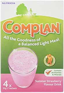 Complan Nutritious Vitamin Rich Drink Strawberry Flavour 4 x 55g Sachets