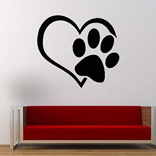 WERWN Amor Mascota Etiqueta de la Pared Mejor Amigo Perro Animal mejoras para el hogar Sala de Estar Dormitorio Tienda de Mascotas Arte calcomanía Vinilo Etiqueta de la Pared