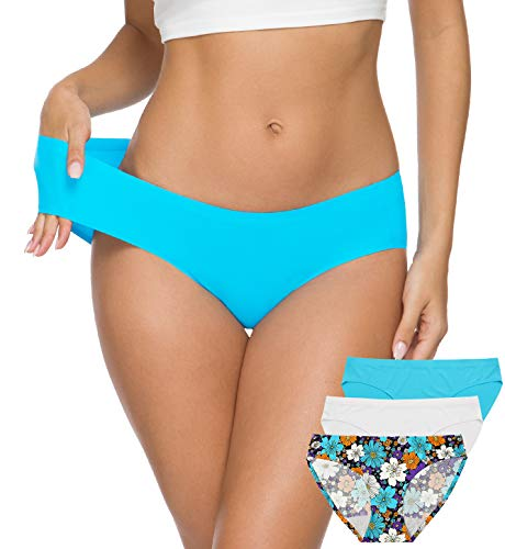 ALTHEANRAY Women's Seamless Underwear No Show Panties Soft Stretch Bikini Underwears 3 Pack(3081L-color14)