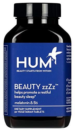 HUM Beauty zzZz Sleep Supplement - Sleep Tablets with Melatonin, Calcium & Vitamin B6 Blend Promote a Deep & Restful Sleep - Non-GMO and Gluten Free (30 Vegan Tablets)