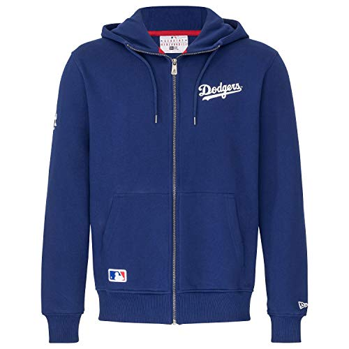 New Era Herren Sweatjacke Team Apparel Script FZ Hoody Los Angeles Dodgers - Dark Blue XL