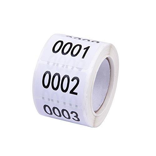 Inventory Labels - Consecutive Number Labels Inventory Stickers - Product Claiming Labels 1-500 Clothes Numbers, Moving Box Numbering 1
