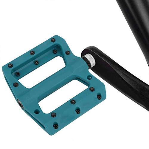 DAUERHAFT Pedal de rodamiento de Bicicleta de plástico de Nailon antichoque y Resistente a la corrosión 1 par, para Bicicleta de Carretera de montaña MTB BMX Mejora la Comodidad de(Blue)