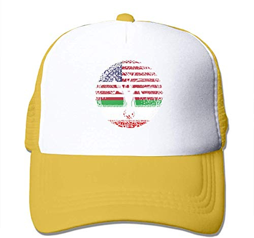 American Heart Iran Flag Roots Adjustable Mesh Trucker Baseball Cap Men Women Hip-hop Hat Cool4624