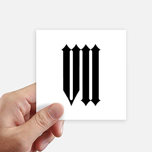 DIYthinker Romeinse cijfers Zeven In zwart Silhouette Vierkant Stickers 10 Cm Muur koffer Laptop Motobike Decal 8 Stks