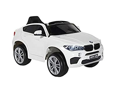 Dynacraft BMW 6V X6M - White, Charger and Rechargeable Battery Included, for Boys and Girls Ages 2-5, Powered Ride-on Toy by Dynacraft