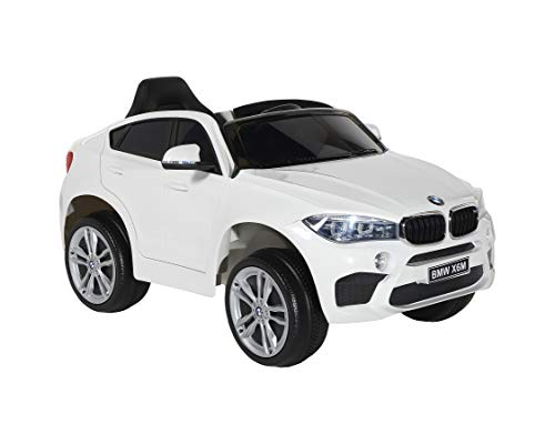 Dynacraft BMW 6V X6M - White, Charger and Rechargeable Battery Included, for Boys and Girls Ages 2-5, Powered Ride-on Toy