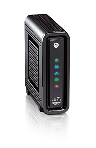 Arris Surfboard SB6141 8x4 DOCSIS 3.0 Cable Modem 2 Compatible with Time Warner Cable, Charter, Cox, Cablevision, and more Not compatible with Verizon FiOS or AT&T U-verse, no longer approved by Comcast Xfinity Requires Cable Iternet Service, if not sure your provider is CABLE call them to confirm