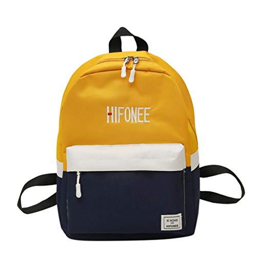 TAMALLU Frauen Umhängetasche Umhängetasche Damen Rucksack Nylon Casual Patchwork Mode Handtasche(Orange)