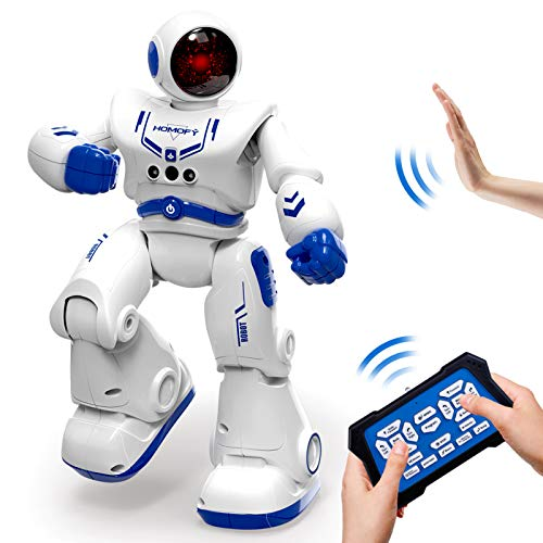 HOMOFY Remote Control Robot Toys for Kids RC Intelligent Programmable Robot Smart Robot Kit with Dancing, Singing, Led Eyes, Gesture Sensing Robot Toys for 5 6 7 8 -12 Year Old Boys Girls Kids Gift