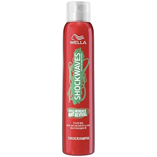 Wella Shockwaves Style Refresh & Root Revival - Champú en seco, 65 ml