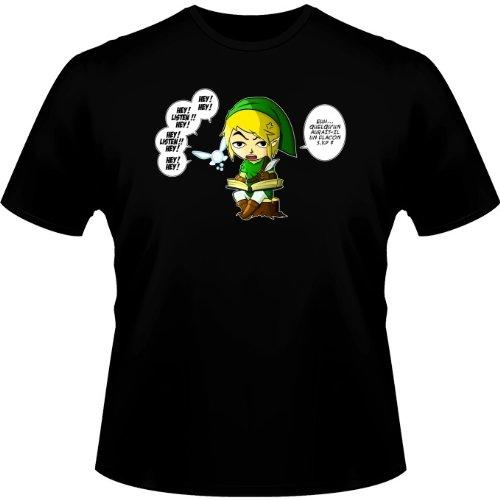 T-Shirt Jeux Vidéo - Parodie Zelda - Une fée pratique mais agaçante... - T-shirt Homme Noir - Haute Qualité (561) - XX-Small