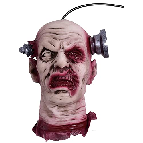 FUN LITTLE TOYS Scary Halloween Zombie Head Decorations, Creepy Hanging Severed Head Bloody Decapitated Prop for Outdoor…