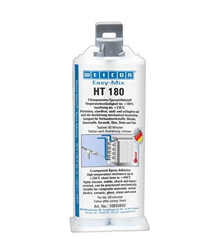 WEICON 10650850 Easy-Mix HT 180 50ml Epoxyd-Klebstoff für Glas, Stein, Holz, Kunststoff