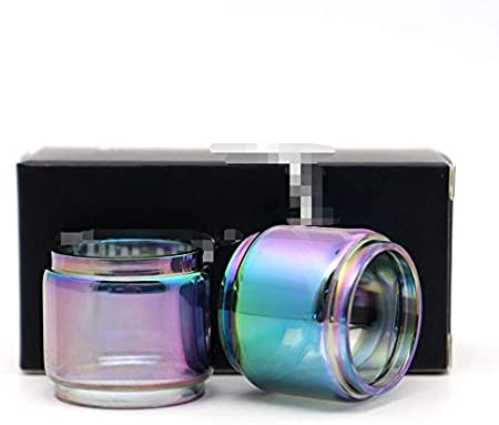2 piezas de Replacemen tubo de vidrio en forma for Vaporesso Skrr-s en forma for Skrr Luxe S Cielo Solo Plus NRG tanque de ajuste for Revenger X Kit ( Color : Fit for E Priv 8ml , tamaño : 2 PCS )