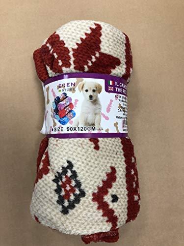 Eden knuffeldeken van zacht fleece voor honden en katten, afmeting 90 x 120 cm, Patroon.