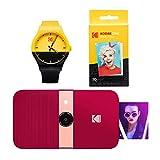 KODAK Smile - Reloj de cámara Digital con impresión instantánea (Rojo)