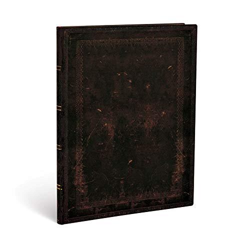 Paperblanks - Faux Leder schwarzes Marokkoleder schlicht - Notizbuch Ultra Flexi Liniert - 176 Seiten