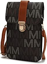 MKF Small Crossbody Cell Phone Purse Wallet for Women – PU Leather Cellphone Bag – Case with Shoulder Strap Brown