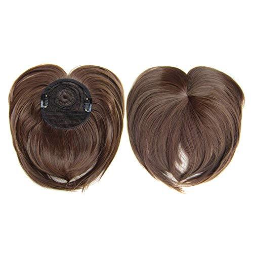 Magic Clip-on Hair Topper, Hitzebeständiges Faserhaar, Seidige Clip-on Hair Topper Perücke, Density Top Haarteile Für Frauen Mit Schütterem Haar #1