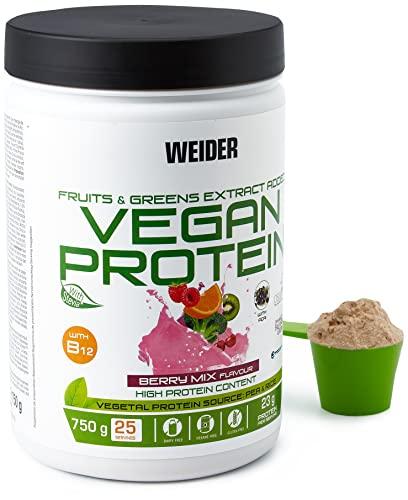 Weider Nutrition Vegan Protein, Berry Mix - 750 ml