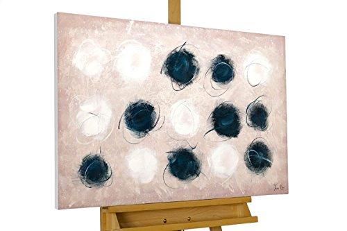KunstLoft® Acryl Gemälde 'Hautnah' 90x60cm   original handgemalte Leinwand Bilder XXL   Abstrakt Schwarz Weiß Farbtupfer   Wandbild Acrylbild Moderne Kunst einteilig mit Rahmen