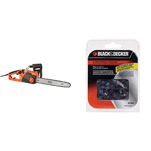 BLACK+DECKER Electric Chainsaw with 8-Inch Saw Chain for CCS818 and NPP2018 (CS1518 & RC800)