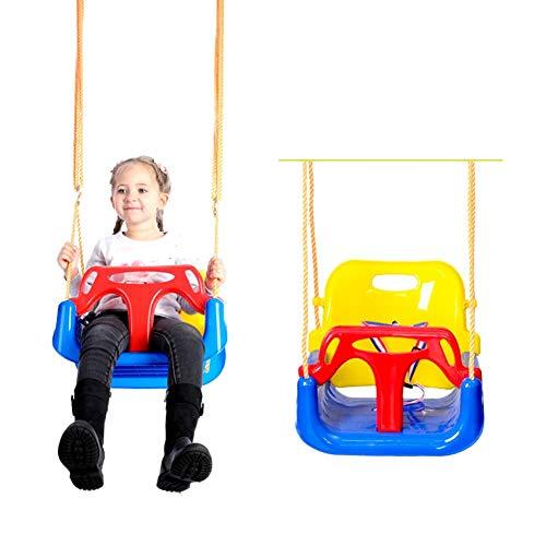 ZSLGOGO 3 En 1 Columpios Infantiles para Bebés Niños con Silla Convertible en Asiento de Seguridad, Carga Máx. 150 KG, para Casa Jardín Interiores o Exteriores