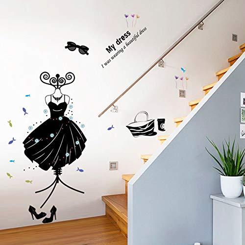 Waren Kleidung Schuhe Hüte Wohnzimmer Schlafzimmer Dekoration Wandaufkleber An Der Wand Brille Kleiderbügel Vinyl Art Poster