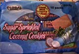 Global Brands Sugar Sprinkled Coconut Cookies. Indian Cookies. 1 Bag (10 Packets)